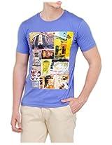 Yepme Men's Blue Cotton T-Shirt-YPMTEES0206_M