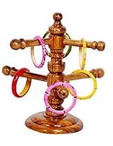 Jeevan Raj Veer Chen Teak Bangle Stand-(6 inch X 6 Inch X 12 Inch,Teak Brown)