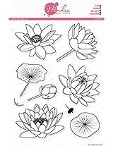 """Mudra Stamps - Lotus Blooms - 8""""X6"""""""