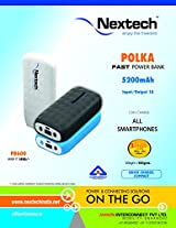 POLKA Power Bank with LED Torch 5200mAh for iPhones & All Other Smartphones - PB600