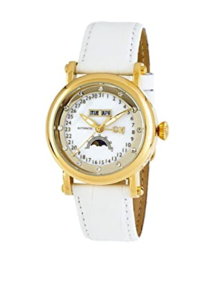 Carlo Monti Damen Armbanduhr gold/weiß CM110 286 IP