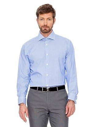 Cortefiel Unifarbenes Hemd (Blau)