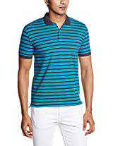 United Colors of Benetton Men's Polo (8903975021990_15A3AP2J6002I901EL_XX-Large_Blue and Navy)