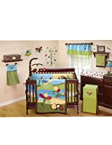 NoJo Critter Babies 7 Piece Crib Bedding Set