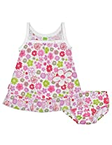 Baby Pop Dress & Bloomer Set | Flower Print , Size 3M