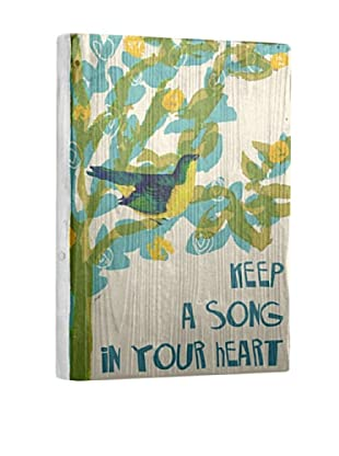 Artehouse Keep a Song Reclaimed Wood Sign