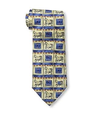 Dunhill Men's Horse Tie, Blue/Beige