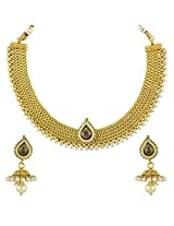 Ethnic Indian Bollywood Jewelry Set Traditional Fashion Necklace SetABNE0343WH