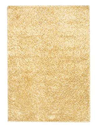 Hand-Knotted Casablanca Retro Shag, Light Yellow, 5' 7