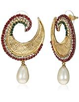 Ava  Drop Earrings for Women (Golden) (E-VS-1887)