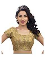 Gold Dhupion Embroidered Designer Blouse Piece