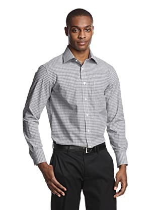Acquaviva Men's Checked Dress Shirt (Black)