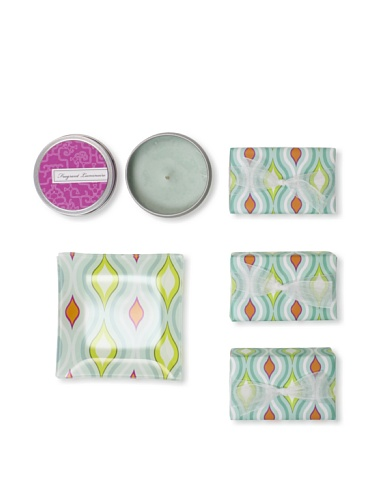 Mudlark Set of 3 Hand-Crafted Soaps in Soap Dish with a Candle Tin, Hayden Leigh