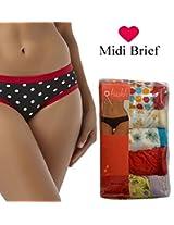 Seasons Hushh Pack Of 5 Women Midi Brief Panties B110B1103OJ_Multi