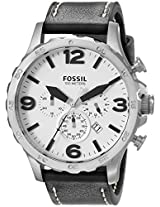 Fossil End of Season Nate Analog White Dial Men's Watch - JR1485