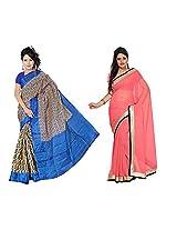 Somya Chiffon Saree With Blouse Piece (C014_119_111 -Neon Pink)