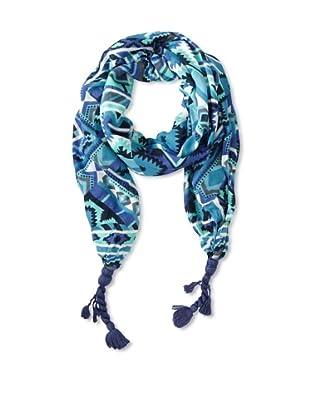 Sir Alistair Rai Women's Global Ikat Tassel Wrap, Blues