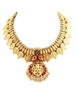 Necklace With Lakshmi Pendant And Coins