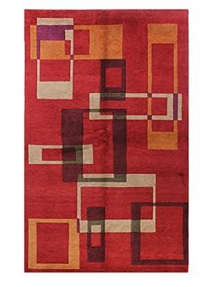 Bashian Sagar Rug, Red, 5' 9
