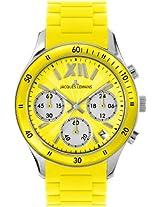 Jacques Lemans Chronograph Yellow Dial Men's Watch - 1-1586E