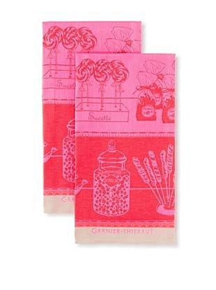 Garnier-Thiebaut Set of 2 Confiserie Kitchen Towels, Guimauve