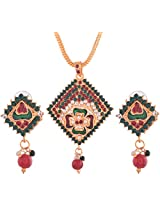 Ganapathy Gems Gold Plated Pendant Set for Women (6148)