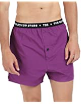 The Boxer Store's Watching You Boxer for Men -Purple (Small)