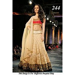 Bollywood Replica Shraddha Kapoor Net Lehenga In Cream and Pink Colour NC378