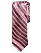 Men's Fashion Tie - Red Purple Pattern