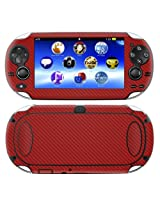 Decalrus - PlayStation Vita RED Carbon Fiber skin skins decal for case cover wrap CFvitaRed