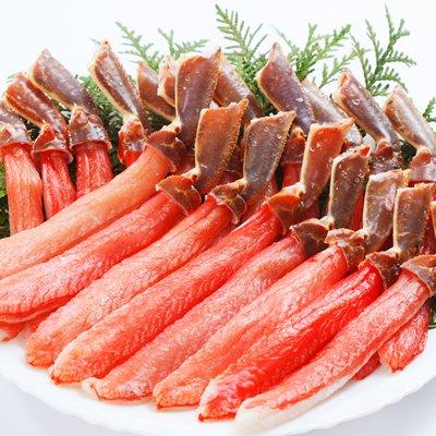 かに問屋 札幌蟹販 【5L】 ズワイガニ 棒肉 1.0kg (31~40本入り)