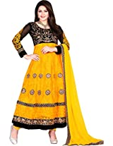 Gorgeous Yellow Color Net Anarkali Suit