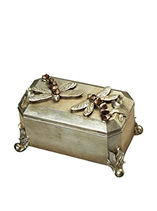 Artistic Dragonfly Box, Antique Silver