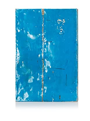 Indah Recycled Oil Drum Wall Décor, Blue