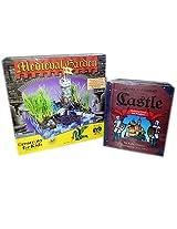 Castle Medieval Garden & Book Set Of 2 Gift Childrens Bundle Ages 7+ [2 Piece]
