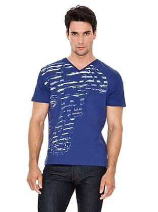 Versace Jeans Camiseta Print Rayado (Azul)