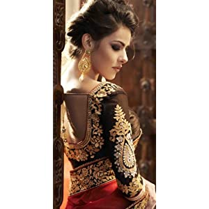 Pretty and Charming Georgette Saree with Blouse - TBSANKK6001