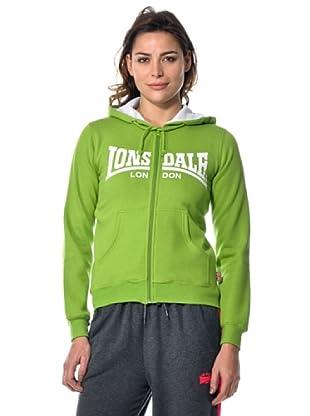Lonsdale Ladies Zip Felpa (Verde mela)