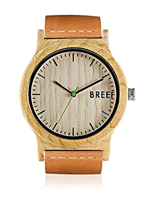 Breef Watches Reloj con movimiento japonés Unisex Maple Original Marrón Claro 44 mm