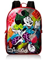 Disney Girl's Minnie Mouse Backpack with Lunch Kit, Multi, One Size