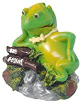 Taiyo Pluss Discovery Action Frog Aquarium Décor, 11.43 cm x 11.43 cm