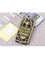 Pandamimi Deluxe Sliver Chrome Glitter Bling Leopard Crystal Rhinestone Owl Hard Case Skin Cover for Apple AT&T Sprint Verizon iPhone 4 4S 4G