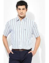 White Slim Fit Casual Shirt Allen Solly
