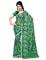 Vaamsi Women's Chiffon Saree(Rolex3029_Green)
