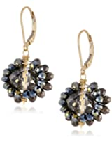 "Dana Kellin ""Deco Mix"" Crystal and 14k Gold Fill Small Cluster Drop Earrings"