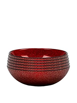 Paparazzi Bowl, Red, Set of 6