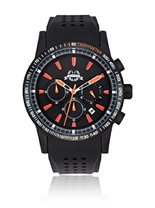 Spears & Walker Newark Chronograph Edelstahl Black/Orange 5Atm silber