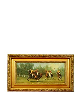 Framed Reproduction Polo Player Painting
