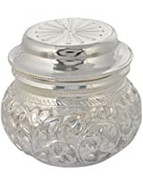 Tanishi Jewels Shiv Baba Sterling Silver 925 Carving Pot for Puja Bhog