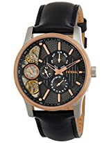 Fossil Mechanical Twist Chronograph Black Dial Men's Watch - ME1099